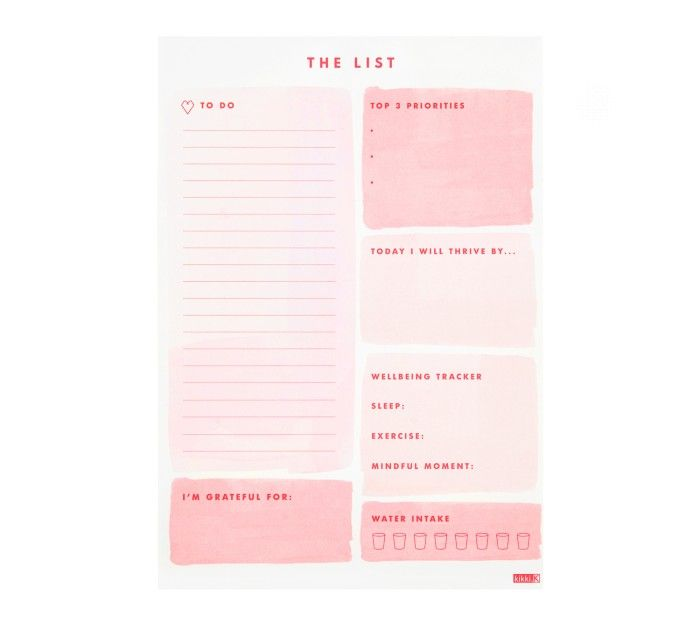 B5 DAILY NOTES PAD: THRIVEhttp://www.kikki-k.com/b5-daily-notes-pad-thrive