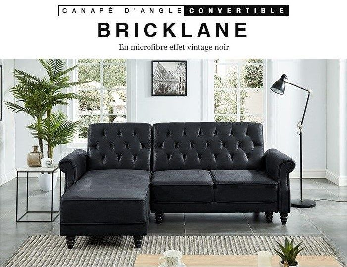 Bricklane Canape Chesterfield D Angle Reversible Convertible 3 Places Pas Cher Canape Cdiscount Soldes Cdiscount Top Soldes Cdiscount Ventes Pas Cher Com In 2020
