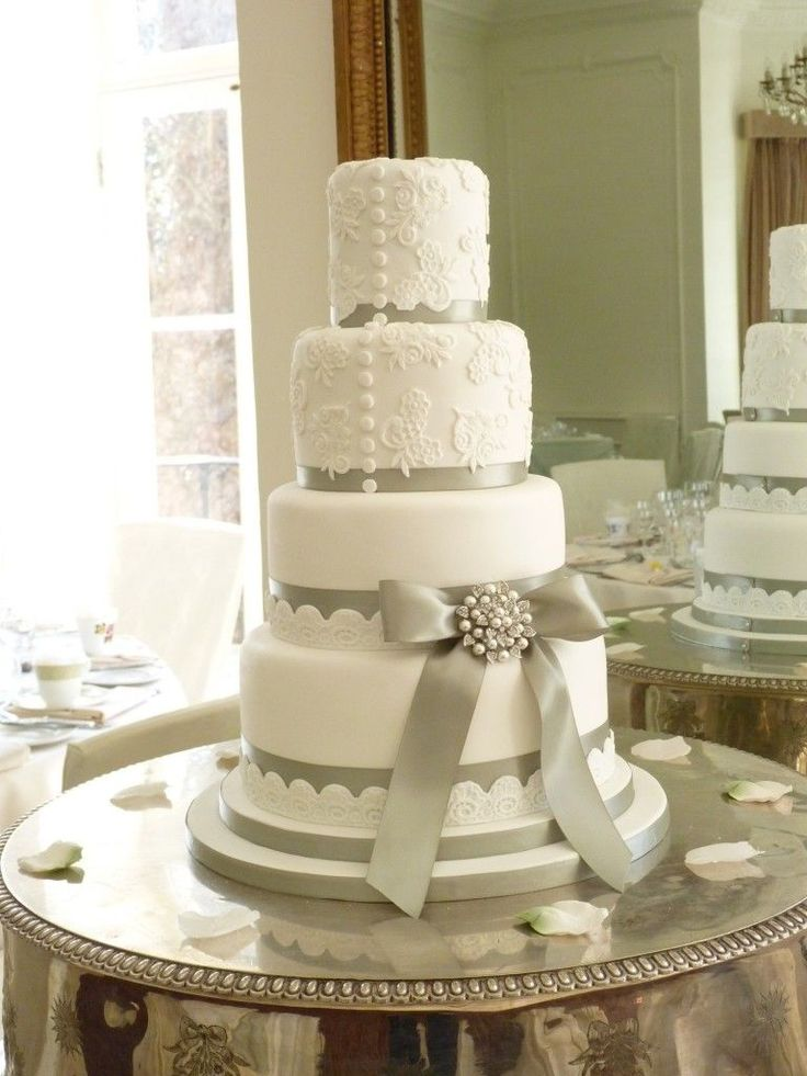 Repost...Sage Green and Lace wedding cake at Taplow House Hotel by Melissa Woodland Cakes
