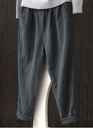 Bootcut Cotton Trousers Pants & Leggings - Floryday @ floryday.com