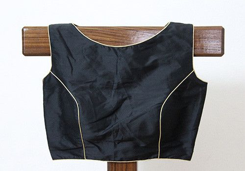 Black Sleeveless Blouse with Embroidery on the back – Desically Ethnic