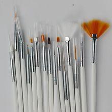 15 unids Cepillo de Uñas de Gel UV Esmalte de Uñas de Arte Herramientas de Peinado Profesional Pen Pintura Manicura Cepillo(China)