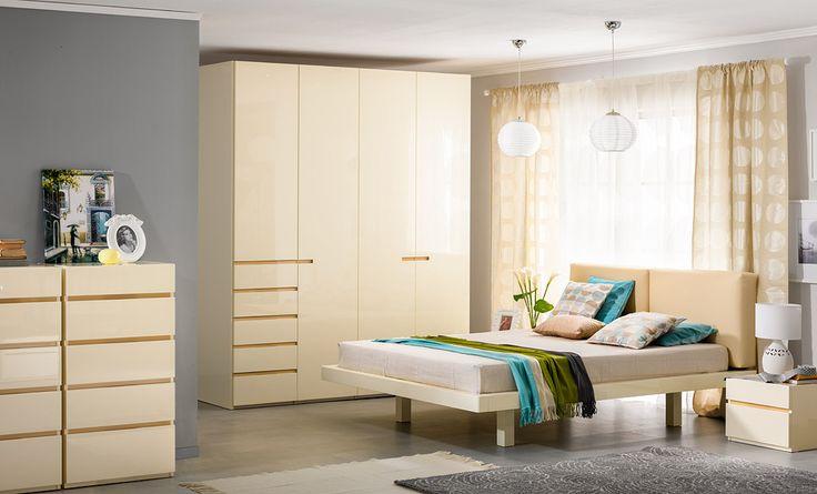 Бежевая спальня в стиле модерн   Дизайн интерьера современной спальни  #астрон #мебель #astron #спальни