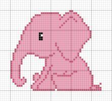 Resultado de imagen para elefantes en punto cruz