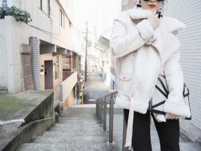 ムートンライダースジャケット ¥19000+TAX