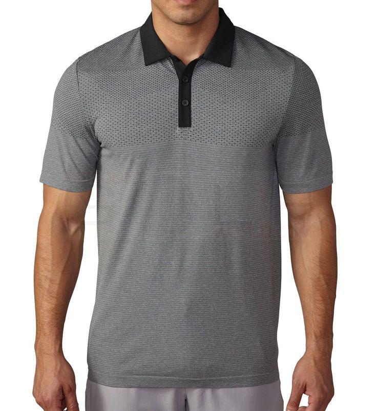 Adidas ClimaCool Primeknit Polo ClimaCool Technology, Woven Collar, Seamless Construction Polos Shirts Mens Golf Apparel