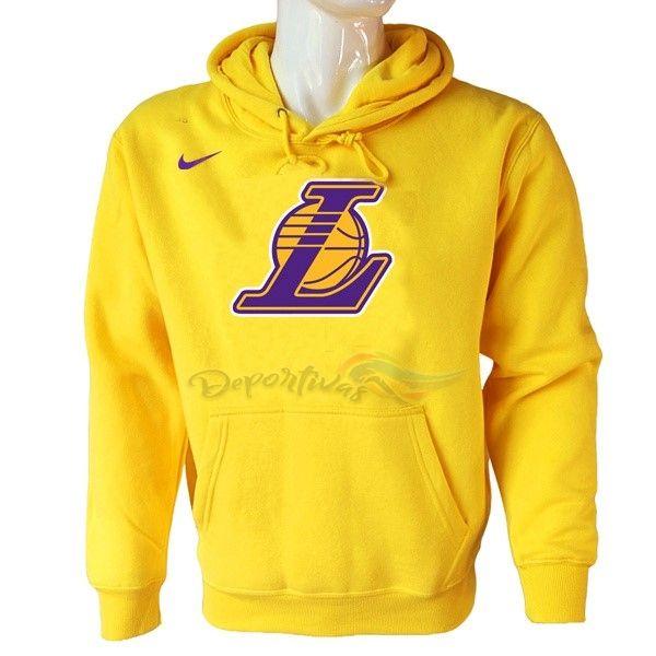 los mejores precios mejor valor precios increibles Sudaderas Con Capucha NBA Los Angeles Lakers Nike Amarillo Baratas ...