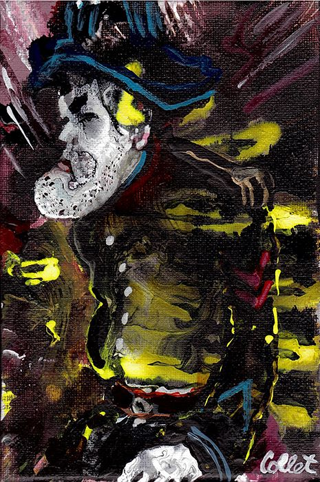 """The Soldier/Le soldat - Acrylic on canvas/Acrylique sur toile - 5"""" x 7"""""""