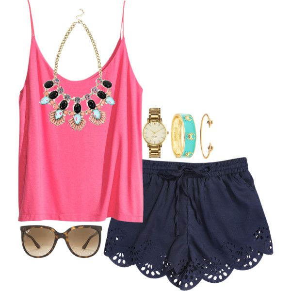 A fashion look from July 2014 featuring H&M tops, Fornash bracelets and Kate Spade watches. Browse and shop related looks.