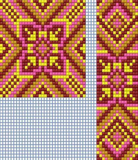 Схемы герданов 3 | - Схемы для бисероплетения / Free bead patterns -