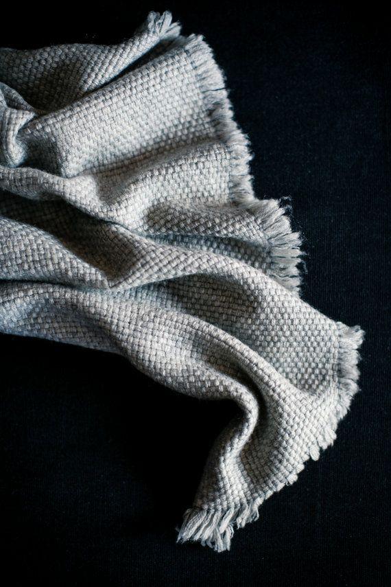 Lancio del Cashmere Grigio coperta - grigia coperta - Luxury Cashmere Baby - Cashmere Throw - Plaid coperta - divano Throw - Bed - Cashmere Lana