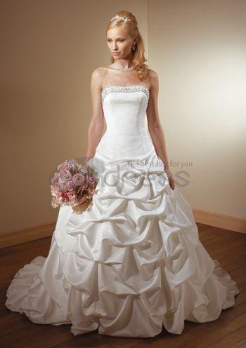 Abiti da Sposa Senza Spalline-Sontuose sontuosi abiti da sposa senza spalline formale