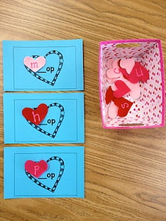 such a cute Kindergarten building word activity for Valentine's Day!