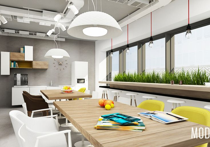 Sanofi Aventis – projekt biura w Warszawie – strefa kuchni pracowniczych | KDesign Architekci projekt biura, projekty sklepów, projekty restauracji