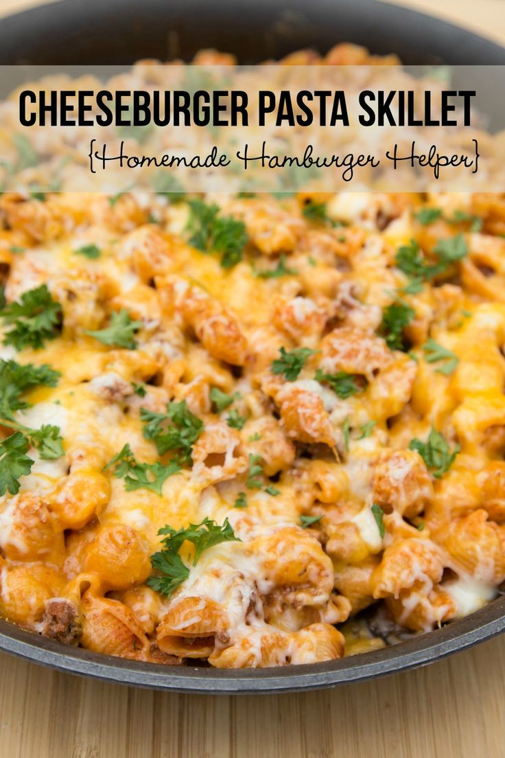 Cheeseburger Skillet recipe (otherwise known as Homemade Hamburger Helper!!) ~ NEW 31 Days of Kid Friendly Recipes from 5DollarDinners.com