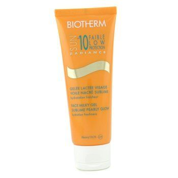 Sun Radiance Face Milky Gel Sublime Pearly Glow SPF 10 - Biotherm - Sun Care - Face - 75ml/2.53oz by Biotherm - Sun Care - Face. $26.45. 75ml/2.53oz. Combines a sunscreen with a highlighter Formulated with vegetable oils & pro-vitamin B5 Helps hydrate skin & reactivate color of tan with each application Leaves skin protected in a pearly glow