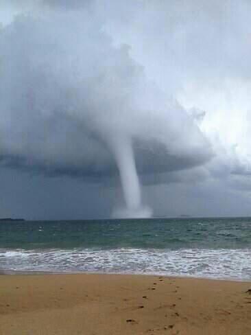 Tornado off Redcliff Queensland