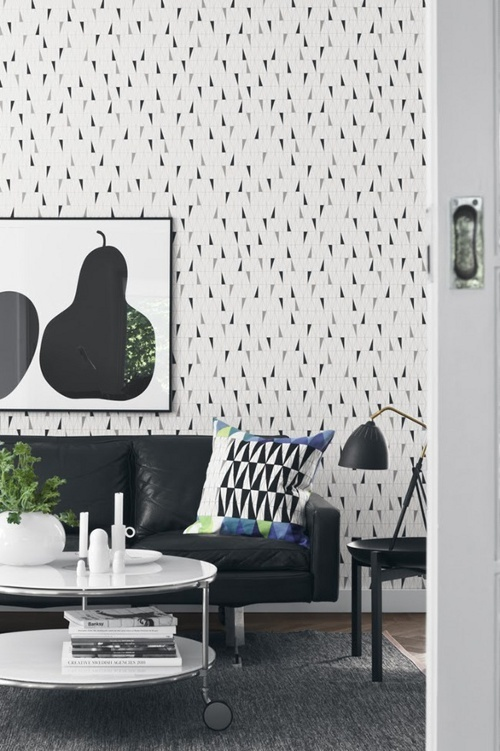 Great geometric #interior and i like the low hanging fruit print
