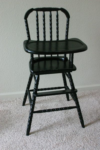 Antique High Chair BEFORE AND AFTER By The Painted Past On Etsy, $125.00 I  Have