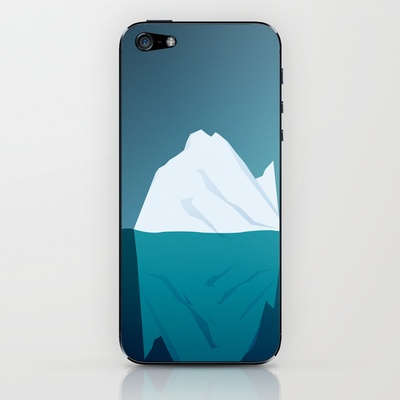 Iceberg in Cold Ocean iPhone & iPod Skin by Maciej Konczewski - $15.00    http://society6.com/MaciejK/Iceberg-in-Cold-Ocean_Phone-Skin