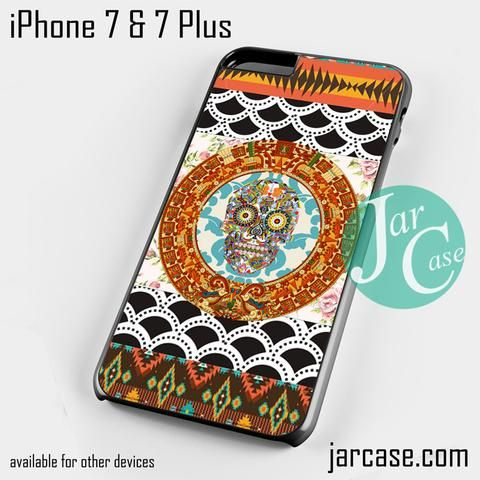 skull aztec floral art Phone case for iPhone 7 and 7 Plus