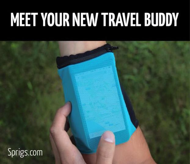 A wrist wallet made to keep your valuables safe. Don't go traveling without one... http://sprigs.com/banjees