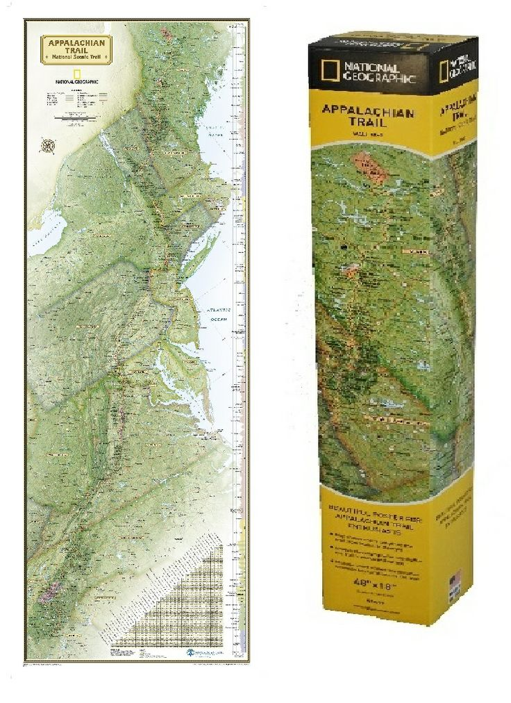 Best Appalachian Trail Images On Pinterest Hiking The - Appalachian trail us map