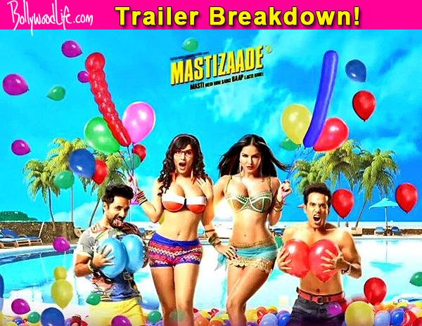 5 moments in Sunny Leone, Tusshar Kapoor and Vir Das' Mastizaade teaser that literally 'STOOD' out! #SunnyLeone