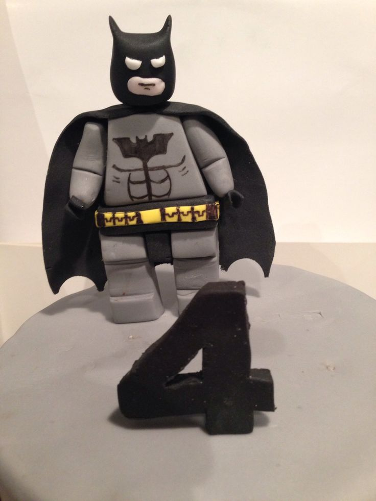 Lego Batman Cake Topper Used Tutorial From Zoes Fancy