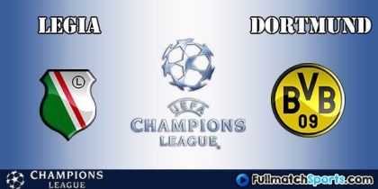 FULL MATCH Legia Warsawa vs Borussia Dortmund Champions League 2016-2017