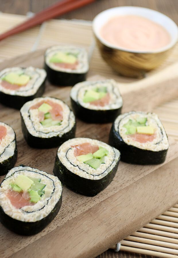 Keto Sushi is here and it's delicious! If you are a low-carber that misses sushi, don't miss out on this recipe! Shared via http://www.ruled.me/