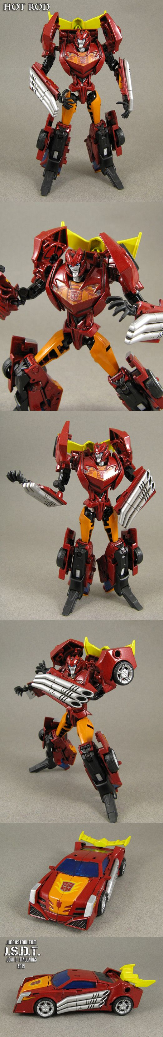 Custom Transformers Prime Hot Rod Figure by *Jin-Saotome on deviantART