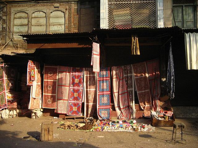 cloth dealer in Peshawar by dibopics, via Flickr