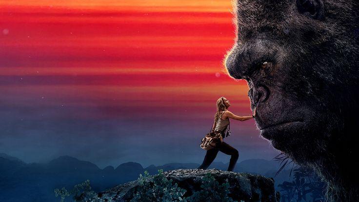 Download 4k imagens Kong Ilha Da Caveira, 2017, Brie Larson, gorila, Kong 2 monitor com uma resolução 3840x2160. 4k Papéis de parede