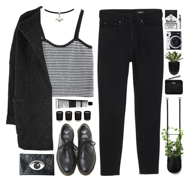 """""""Untitled #115"""" by purikura ❤ liked on Polyvore featuring Burberry, Monki, Dr. Martens, Authentics, Aesop, Motel, Linea, Acne Studios, Fuji and women's clothing"""