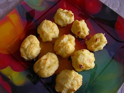Cauliflower Tater Tots  from Suzanne Somers    1 pound cauliflower florets  2 T water  4 T butter  2 large egg yolks  1 cup Parmesan cheese