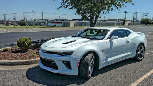This is the 2016 Chevrolet Camaro SS, a front-engine, rear-wheel-drive, 4-passenger, 2-door coupe. The engine type of this car is pushrod 16-valve V-8, aluminum block and heads, direct fuel injection. This engine can produce 455 hp @ 6000 rpm and 455 lb-ft @ 4400 rpm torque. How about the performance? Camaro can run from zero to 60 mph in just  4.3 sec and from zero to 100 mph in 9.3 sec. The Top Speed of Camaro is 160 mph.