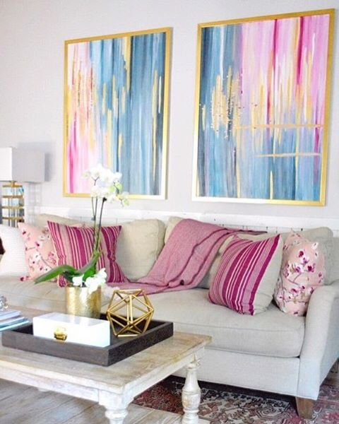 Stephanie Kraus Designs Blue And White Living Room A: 17 Best Ideas About Pink Living Rooms On Pinterest