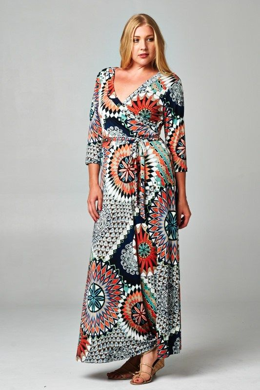 Casual plus size maxi dress