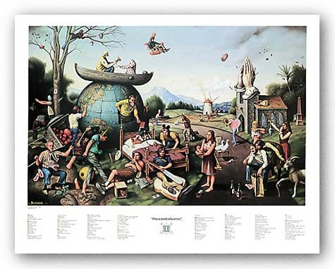 "Proverbidioms II by Thomas E. Breitenbach 25.25""x16.5"" Art Print Poster"