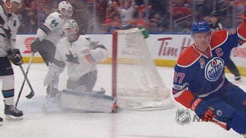 New party member! Tags: sports hockey goal nhl skate skating ice hockey fist pump goal celebration mcdavid connor mcdavid