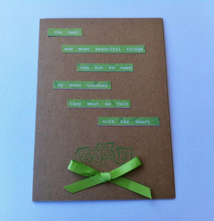 Handmade Baby Card - Quote Card - New Arrival Card - Handmade by HandmadeByLana on Etsy