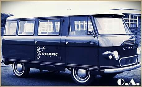 Olympic Airways mini bus for staff