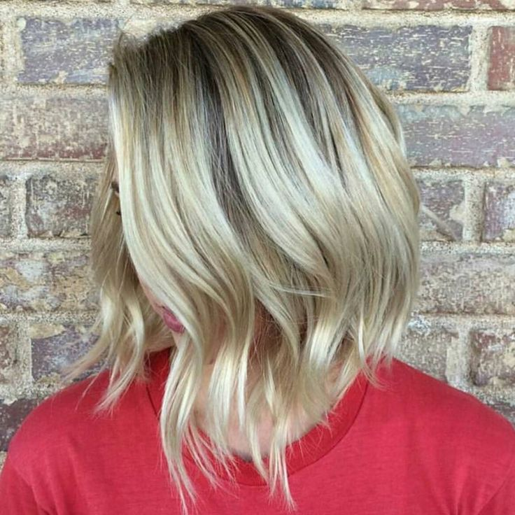 Lob Love w/ a side order of crazy dimension please!!! :) ... by  @suzannastylist at  @kuthaus_claremont -  using  #Schwarzkopf  #Blondme and #Redken #BEHINDTHECHAIR