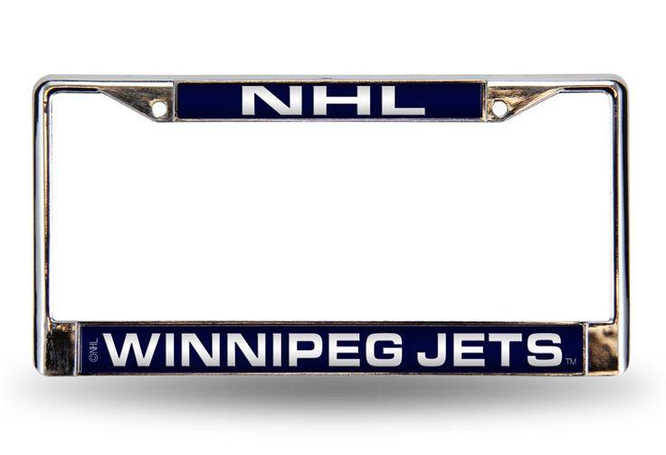 Winnipeg Jets NHL Laser-Etched Chrome License Plate Frame