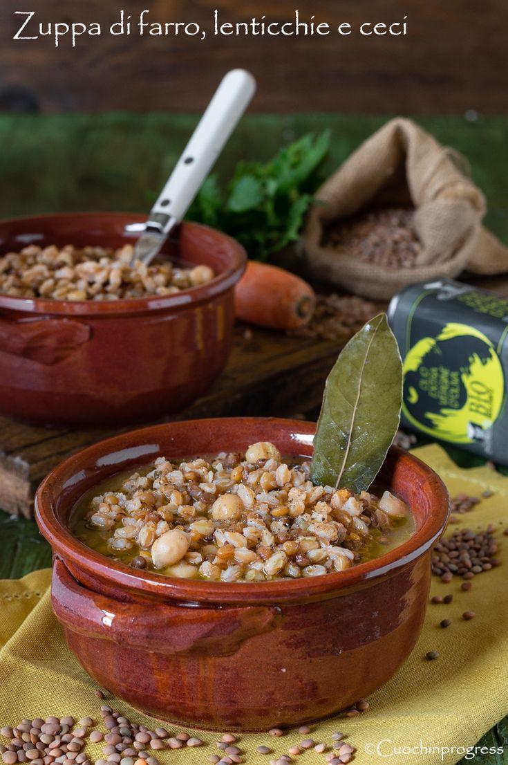 La zuppa di farro lenticchie e ceci un delizioso piatto for Piatto della cucina povera