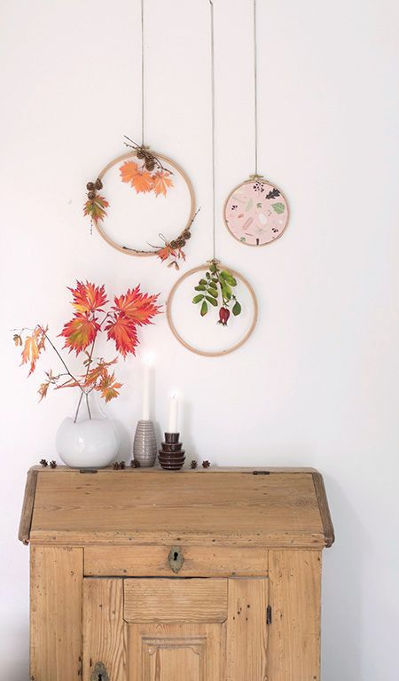 Süße Herbstdekoration basteln | Machen Sie es sich bequem Gestalte deine eigene Dekoration Kränz …   – hocus pocus