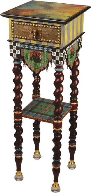 MacKenzie-Childs Tiny Table-Dark...Inspiration for painting and embellishing.