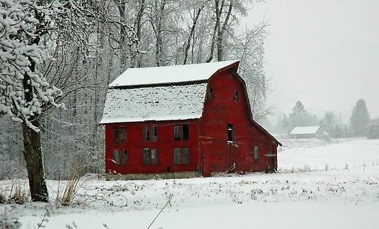 red barn of winter
