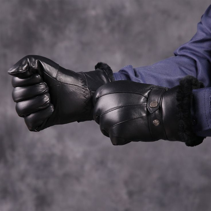 Men's winter warm100% Genuine Leather sheepskin gloves with natrual woollen fur lining Motorcycle Cycling Leather Gloves for Men-in Gloves & Mittens from Men's Clothing & Accessories on Aliexpress.com | Alibaba Group